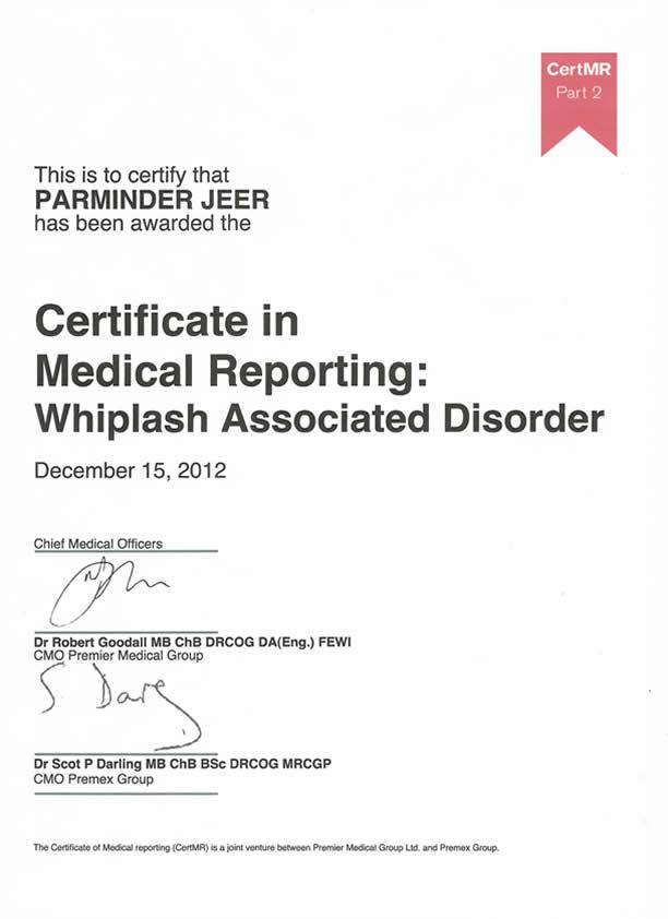 Medico-Legal Certificate
